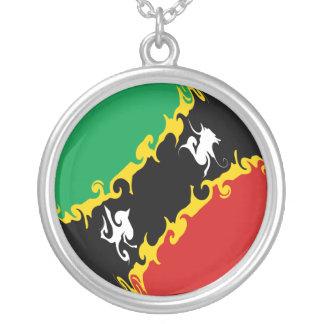 Saint Kitts and Nevis Gnarly Flag Pendants