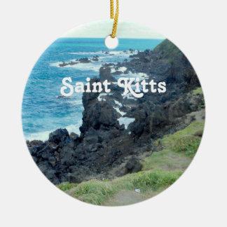 Saint Kitts Coast Round Ceramic Decoration