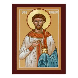 Saint Lawrence Prayer Card Postcard