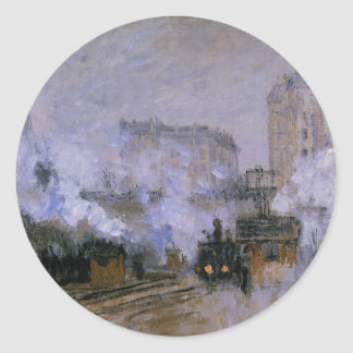 Saint-Lazare Station, Arrival of a Train by Claude Round Sticker