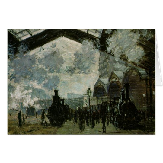 Saint Lazare Station by Claude Monet Card