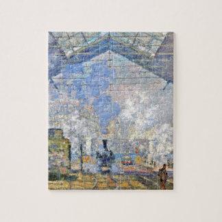 Saint-Lazare Station, Exterior View by Claude Mone Jigsaw Puzzle