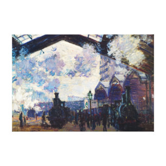 Saint-Lazare Station, Exterior View Claude Monet Canvas Print
