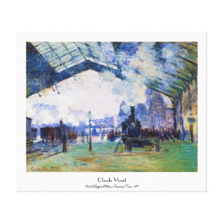 Saint-Lazare Station, Normandy Train, Claude Monet Canvas Print