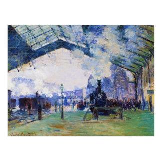 Saint-Lazare Station, Normandy Train, Claude Monet Postcard