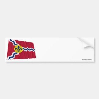 Saint Louis Waving Flag Bumper Stickers