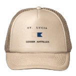 Saint Lucia Alpha Dive Flag Mesh Hats