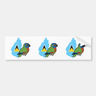 Saint Lucia Amazon Flag Bumper Sticker