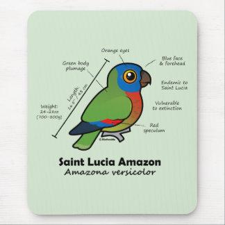 Saint Lucia Amazon Statistics Mouse Pad
