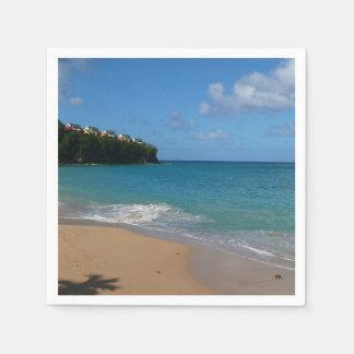 Saint Lucia Beach Tropical Vacation Landscape Disposable Serviette