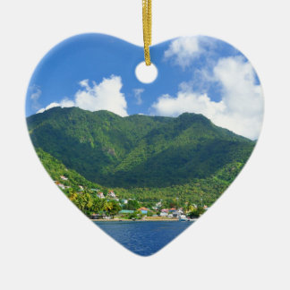 Saint Lucia Ceramic Heart Decoration