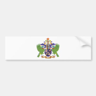 Saint Lucia Coat of Arms Bumper Stickers