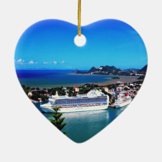 Saint Lucia, cruise ship Christmas Ornament