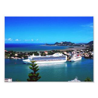 Saint Lucia, cruise ship Photo Print