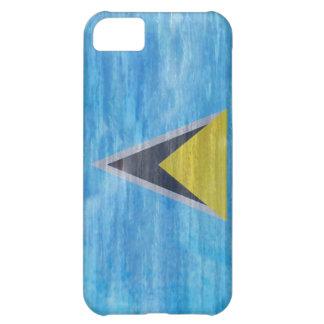 Saint Lucia distressed flag iPhone 5C Case