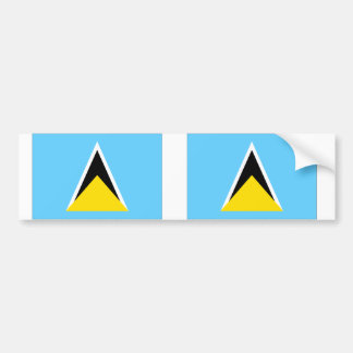 Saint Lucia flag Bumper Sticker