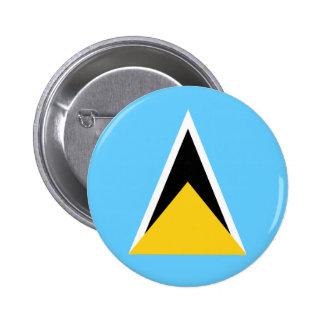 Saint Lucia Flag Button