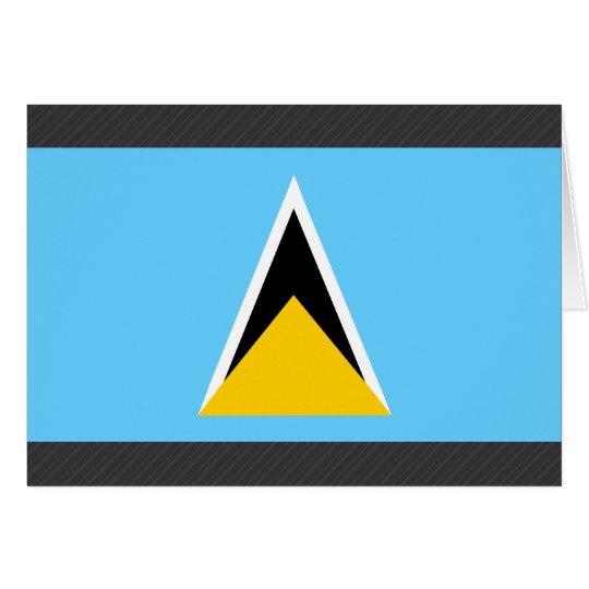 Saint Lucia Flag Card