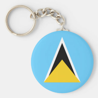Saint Lucia Flag Keychain