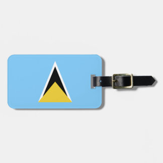 Saint Lucia Flag Luggage Tag