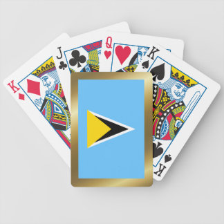Saint Lucia Flag Playing Cards