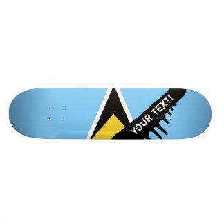 Saint Lucia Flag Skate Board Decks