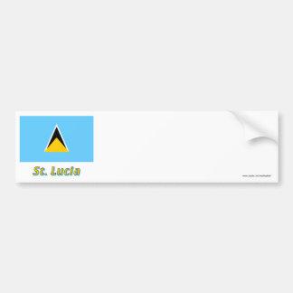 Saint Lucia Flag with Name Bumper Sticker