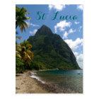 Saint Lucia Gros Piton Postcard