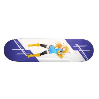 Saint Lucia Manga girl dressed in Flag Skate Board Deck