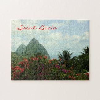 Saint Lucia Pitons Puzzle