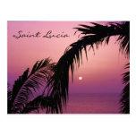 Saint Lucia Purple Paradise Sunset Post Cards