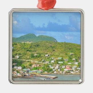 Saint Lucia Silver-Colored Square Decoration