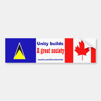 saint lucian canadian bumper sticker