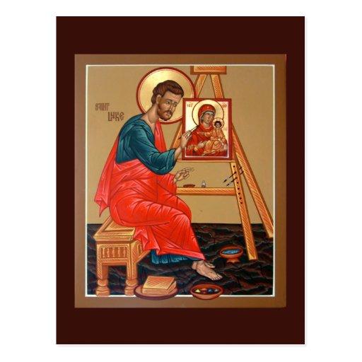 Saint Luke the Evangelist Prayer Card Postcards