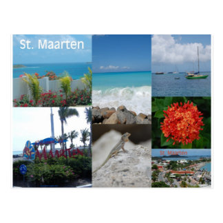 Saint Maarten Photo Collage by Khoncepts Postcard