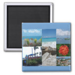 Saint Maarten Photo Collage by Khoncepts Square Magnet