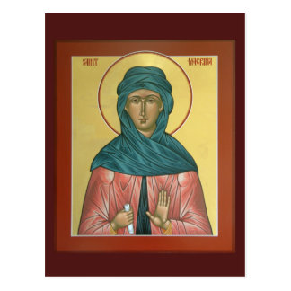 Saint Macrina Prayer Card Postcard