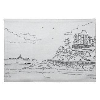 Saint-Malo, Saint-Enogat | Dinard, Brittany Placemat