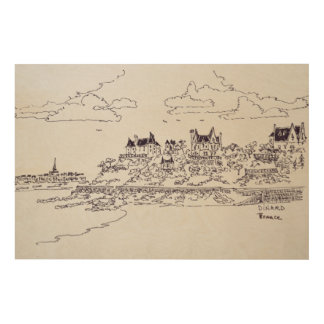 Saint-Malo, Saint-Enogat | Dinard, Brittany Wood Print