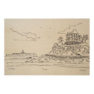 Saint-Malo, Saint-Enogat | Dinard, Brittany Wood Wall Art