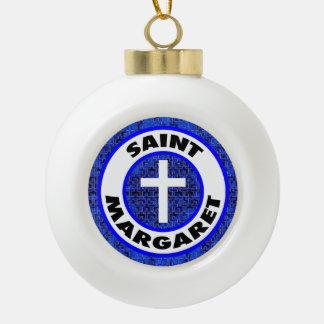 Saint Margaret Ceramic Ball Christmas Ornament