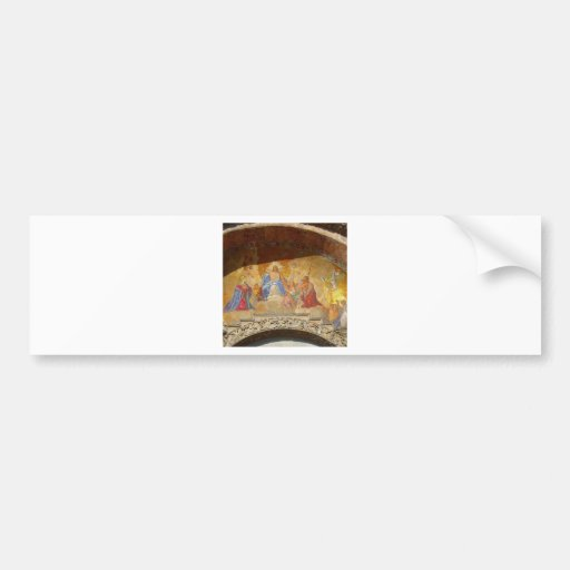 Saint Mark's Cathedral and Piazza Venice Italy Bumper Stickers