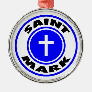 Saint Mark Silver-Colored Round Decoration