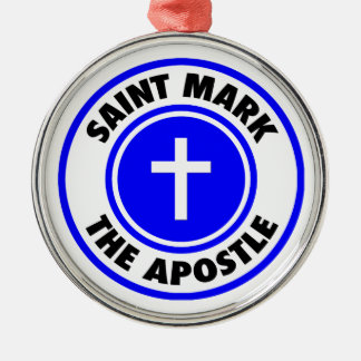 Saint Mark the Apostle Silver-Colored Round Decoration