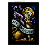 Saint Mark The Evangelist Stained Glass Art Greeting Card