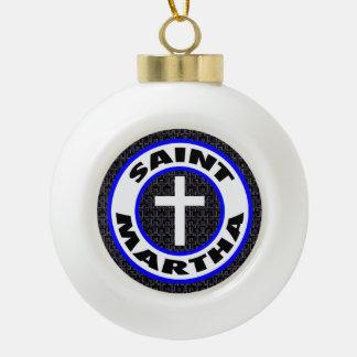 Saint Martha Ceramic Ball Decoration