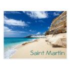 Saint Martin island. Caribbean Postcard