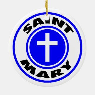 Saint Mary Christmas Ornament
