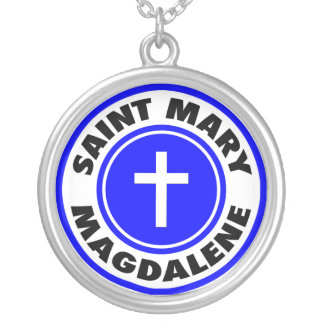 Saint Mary Magdalene Silver Plated Necklace