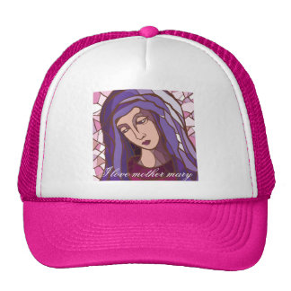 saint mary,mother of God,modern graphic picture Cap